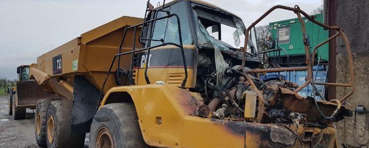Cat 730 fire Damage